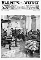 0265968 © Granger - Historical Picture ArchiveNEW YORK SUBTREASURY, 1887.   'Redeeming trade dollars in the New York Subtreasury.' Engraving from 'Harper's Weekly', 4 June 1887.