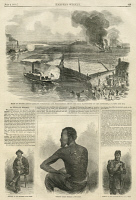 0371306 © Granger - Historical Picture ArchiveHARPER'S WEEKLY, 1863.   A page from 'Harper's Weekly,' describing the story of Gordon, a runaway slave who joined the Union Army. Engraving, 4 July 1863.