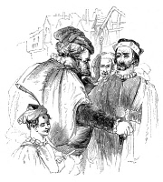 0002031 © Granger - Historical Picture ArchiveSHAKESPEARE: HENRY IV.   Falstaff counseling the Chief Justice, 'You that are old consider not the capacities of us that are young: you measure the heat of our livers with the bitterness of your galls (Act I , scene 2). Wood engraving, English, late 19th century.