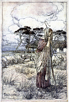 0047909 © Granger - Historical Picture ArchiveRACKHAM: PERDITA.   Perdita [The Winter's Tale]. Pen and ink and watercolor, 1899-1906, by Arthur Rackham.