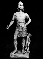 0113234 © Granger - Historical Picture ArchiveHERO OF KALEVALA.   Lemminkäinen, a warrior and adventurer, one of the three heroes of Kalevala, a Finnish epic folk tale. Statuette, c1872.