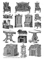 0266685 © Granger - Historical Picture ArchiveTYPE FOUNDRY DESIGNS.   Designs for sale by The United States Type Foundry, James Conner's Sons, New York, mid or late 19th century.