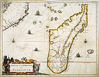 0057887 © Granger - Historical Picture ArchiveMADAGASCAR MAP, 1662.   Map of Madagascar from Johannes Blaeu's