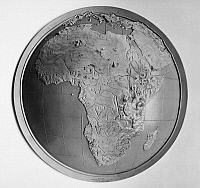 0103529 © Granger - Historical Picture ArchiveMAP: AFRICA, 1953.   Metallic relief map, 1953, showing the physical geography of Africa.