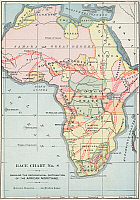 0260440 © Granger - Historical Picture ArchiveAFRICA: MAP, 1894.   'Race Chart No. 8, Showing the Geographical Distribution of the African Nigritians.' Engraving, 1894.