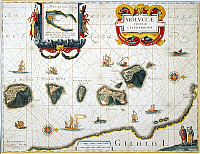 0037529 © Granger - Historical Picture ArchiveMOLUCCAS: SPICE ISLANDS.   Engraved map of the Moluccas or 'Spice Islands,' from Jan Blaeu's atlas of 1662.