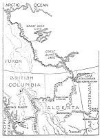 0017565 © Granger - Historical Picture ArchiveMacKENZIE: MAP.   A map of the explorations of Sir Alexander MacKenzie (1764-1820), Scottish explorer in North America, showing his route from Fort Chipewyan on Lake Athabaska along the Mackenzie River to the Arctic Ocean. Pen-and-ink drawing by Charles William Jefferys.