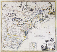 0129834 © Granger - Historical Picture ArchiveCOLONIAL AMERICA: MAP, c1770.   The British Dominions in America. Map showing the British colonies and provinces in America, by Thomas Kitchin, c1770.