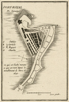 0526435 © Granger - Historical Picture ArchiveMAP: JAMAICA, 1755.   French map of Port Royal in Jamaica by Georges Louis Le Rouge, 1755.
