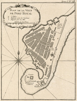 0526441 © Granger - Historical Picture ArchiveMAP: JAMAICA, 1764.   French map of Port Royal,  Jamaica, by Jacques Nicolas Bellin, published 1764.