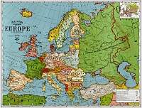0527751 © Granger - Historical Picture ArchiveMAP: EUROPE, 1920.   'Bacon's Standard Map of Europe.' Lithograph, 1920.