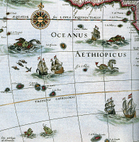 0623214 © Granger - Historical Picture ArchiveATLAS: AETHIOPIAN SEA, 1662. A depiction of the Atlantic Ocean off of western Africa, classically known as the Aethiopian Sea, from Joan Blaeu's 'Atlas Maior'. Atlas illustration, 1662-1672.