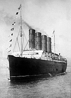 0083246 © Granger - Historical Picture ArchiveLUSITANIA, 1908-1914.   The Cunard steamship 'Lusitania', c1908-1914.