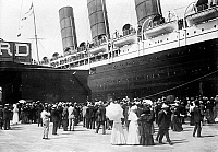 0083247 © Granger - Historical Picture ArchiveNEW YORK: LUSITANIA, 1907.   The Cunard steamship 'Lusitania' at the pier in New York City, 13 September 1907.