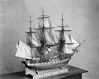 0100192 © Granger - Historical Picture ArchiveMODEL: USS CONSTITUTION.   Colonel Spicer's model, 1928, of the USS Constitution, launched in 1797.