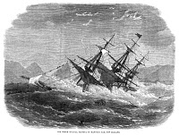 0013006 © Granger - Historical Picture ArchiveSHIPWRECK, 1863.   Wood engraving, English.