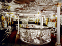 0622308 © Granger - Historical Picture ArchiveKAISERIN MARIA THERESIA.   A women's salon aboard the German ocean liner 'Kaiserin Maria Theresia.' Colorized photograph, c1900.