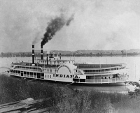 0128790 © Granger - Historical Picture ArchiveSTEAMBOAT, c1910.   The commercial navigation packet 'Indiana,' built early in the 20th century for service on the Ohio River between Louisville and Cincinnati.