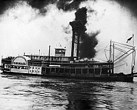 0165566 © Granger - Historical Picture ArchiveMISSISSIPPI STEAMBOAT, c1900.   The steamboat 'City of Memphis' photographed on the Mississippi River, c1900.