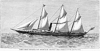 0266003 © Granger - Historical Picture ArchiveSTEAM-YACHT, 1880.   James Gordon Bennett, Jr.'s steam-yacht, 'Polynia.' Engraving, American, 1880.