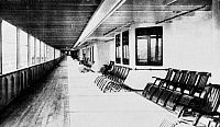 0074266 © Granger - Historical Picture ArchiveTITANIC: PROMENADE DECK.   On the world's biggest ship, the promenade deck of the 'Titanic,' 1912.
