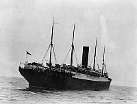 0109489 © Granger - Historical Picture ArchiveTITANIC: THE CARPATHIA, c1912.   The rescuing liner 'Carpathia,' which came to the aid of survivors of the 'Titanic.' Photographed c1912.