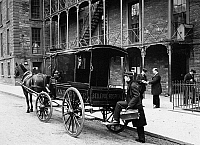 0102763 © Granger - Historical Picture ArchiveNEW YORK: AMBULANCE, 1895.   The Bellevue Hospital Ambulance in New York City. Photograph, 1895.