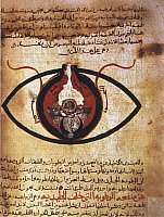 0023719 © Granger - Historical Picture ArchiveARAB EYE TREATISE.   Page from a 13th century Arabic manuscript of Hunayn's Treatise on the Eye.