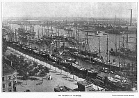 0002474 © Granger - Historical Picture ArchiveHAMBURG: CHOLERA, 1892.   Ships quarantined in the harbor of Hamburg, Germany, during the great cholera epidemic of 1892. Photograph from a contemporary English newspaper.