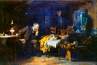 0026539 © Granger - Historical Picture ArchiveFILDES: THE DOCTOR, 1891.   Sir Luke Fildes, 'The Doctor.' Oil on canvas, 1891. RESTRICTED OUTSIDE US.