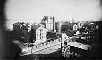 0102762 © Granger - Historical Picture ArchiveNEW YORK: BELLEVUE, 1885.   Bellevue Hospital at 1st Avenue and 28th Street in Manhattan. Photograph, 1885.