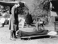 0083804 © Granger - Historical Picture ArchiveFLU: WASHINGTON, 1918.   American Red Cross volunteers at an emergency medical station at Washington, D.C., during the influenza epidemic of 1918.