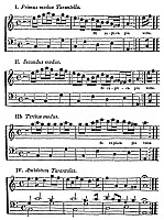 0001630 © Granger - Historical Picture ArchiveKIRCHER: TARANTATI, 1654.   Music for the 'Dance of the Tarantati,' one of the oldest known tarantellas, from Athanasius Kircher's 'Magnes sive de Arte Magnetica,' 1654.
