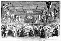 0001631 © Granger - Historical Picture ArchiveINSANE ASYLUM, 1853.   Entertainment for the patients at the Middlesex County Lunatic Asylum, Colney Hatch, England. Wood engraving, English, 1853.