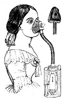 0001547 © Granger - Historical Picture ArchiveCHLOROFORM INHALER, 1858.   A chloroform inhaler. Illustration from 'On Chloroform and other Anaesthetics' by John Snow, published at London in 1858.