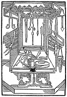 0002086 © Granger - Historical Picture ArchiveSURGICAL INSTRUMENTS.   Woodcut from a 15th-century German treatise on surgery.