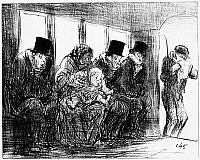 0039005 © Granger - Historical Picture ArchiveDAUMIER: GRIPPE, 1858.   'An Omnibus during an epidemic of Grippe.' Lithograph cartoon, 1858, by Honoré Daumier.