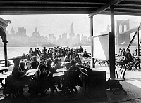 0109931 © Granger - Historical Picture ArchiveTUBERCULOSIS CAMP, 1911.   An open-air class on board a New York City ferryboat designated to provide day care for children with tuberculosis. Photograph, 1911.