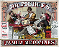 0268883 © Granger - Historical Picture ArchivePATENT MEDICINE, c1874.   American advertisement for Dr. Pierce's family medicines. Lithograph, c1874.