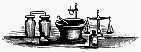 0001428 © Granger - Historical Picture ArchivePHARMACEUTICAL TOOLS.   American typefounder's cut, 19th century.