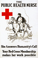 0162747 © Granger - Historical Picture ArchiveRED CROSS POSTER, c1917.   American Red Cross membership recruiting poster. Lithograph by Gordon Grant, c1917.