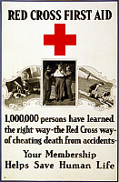 0162748 © Granger - Historical Picture ArchiveRED CROSS POSTER, 1919.   Membership recruiting poster for the American Red Cross, 1919.