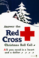0162767 © Granger - Historical Picture ArchiveRED CROSS POSTER, c1915.   American Red Cross campaign poster during Christmas time. Lithograph by Ray Greenleaf, c1915.