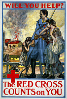 0162772 © Granger - Historical Picture ArchiveRED CROSS POSTER, 1917.   American Red Cross poster from World War I, 1917.