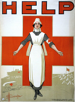 0162814 © Granger - Historical Picture ArchiveRED CROSS POSTER, c1917.   Australian Red Cross poster during World War I. Lithograph by David Henry Souter, c1917.