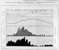 0129029 © Granger - Historical Picture ArchiveEPIDEMICS CHART, 1872.   Chart illustrating the weekly mortality rates from smallpox (bottom) and meningitis in New York City over the course of the year 1872, correlated to humidity (top) and temperature. Contemporary lithograph.