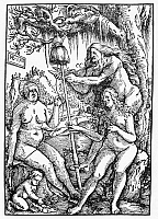 0104722 © Granger - Historical Picture ArchiveTHE FATES.   The three Fates, Lachesis, Atropos, and Clotho. Woodcut, 1513, by Hans Baldung Grien.
