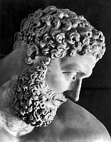 0032419 © Granger - Historical Picture ArchiveMYTHOLOGY: HERCULES.   Detail of the head of the Farnese Hercules in the Pitti Palace, Florence.