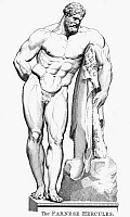 0040391 © Granger - Historical Picture ArchiveHERCULES.   The Farnese Hercules. Copper engraving, English, 1789.