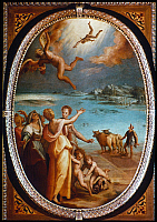 0023812 © Granger - Historical Picture ArchiveTHE FALL OF ICARUS.   Oil on panel, c1570, by Maso da San Friano (Tommaso d'Antonio Manzuoli).